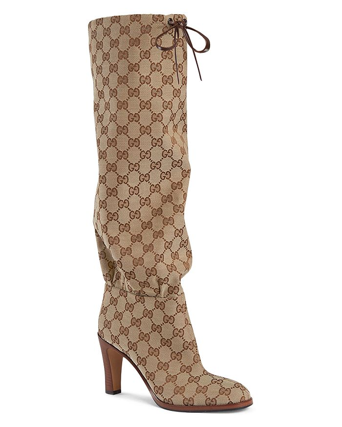 9da0af0c7 Gucci Women's Lisa GG Canvas Mid-Heel Boots   Bloomingdale's