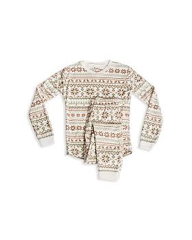 PJ Salvage - Girls' Fair Isle Snowflake-Print Pajama Shirt & Pants Set - Little Kid