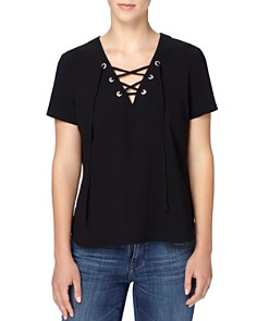 CATHERINE Catherine Malandrino - Vicki Lace-up Top