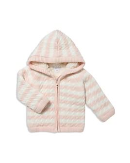 Angel Dear - Girls' Striped Knit Sherpa-Lined Jacket - Baby