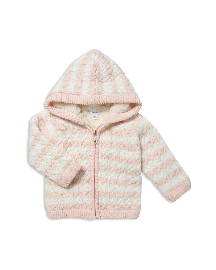 Angel Dear - Girls' Striped Knit Sherpa-Lined Jacket - Baby