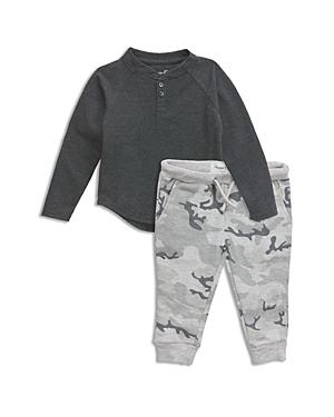 Sovereign Code Boys' Textured Henley & Camo-Print Jogger Pants Set - Baby
