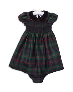 Ralph Lauren - Girls' Plaid Wool Dress & Bloomers Set - Baby