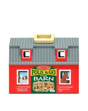 Melissa & Doug Fold & Go Wooden Barn - Ages 3+