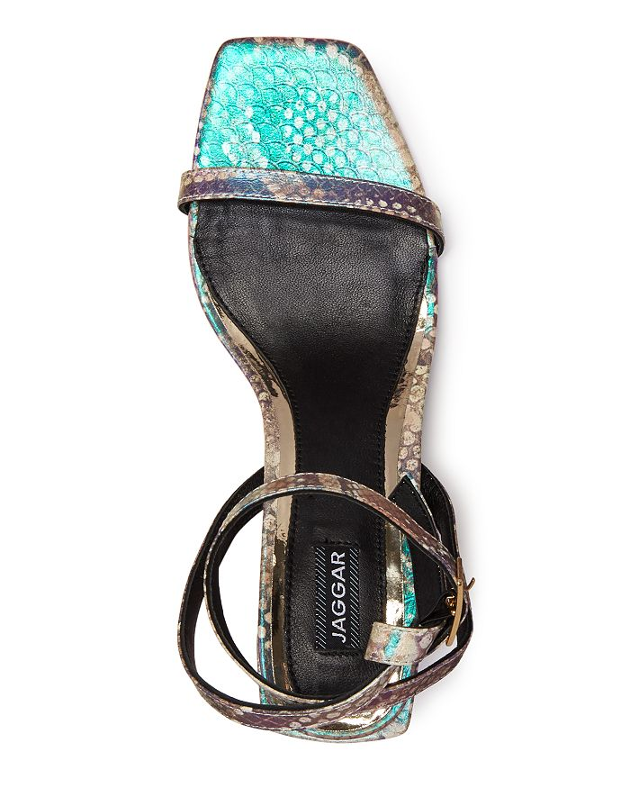 280e26c0bdb3 JAGGAR Women's Essential Snake-Print Block Heel Sandals | Bloomingdale's