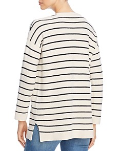 Eileen Fisher Petites - Striped Organic Cotton Sweater