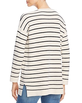 Eileen Fisher - Striped Organic-Cotton Tunic Sweater