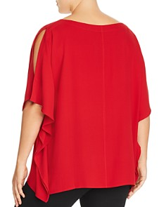 Eileen Fisher Plus - Silk Slit-Sleeve Poncho Top