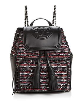 Tory Burch - Fleming Tweed Backpack
