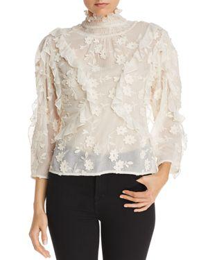 Rebecca Taylor Floral-Embellished Blouse