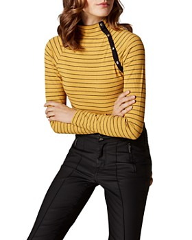 KAREN MILLEN - Snap Striped Top