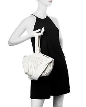 Max Mara - Pleated Leather Wristlet