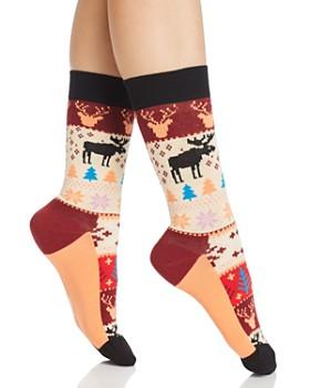 Happy Socks -  Fair Isle Crew Socks