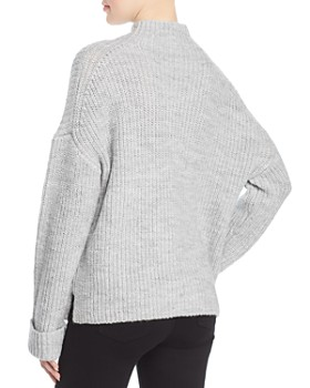 Marled - Chunky-Knit Mock-Neck Sweater