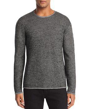 John Varvatos Collection - Marled Waffle-Knit Sweater
