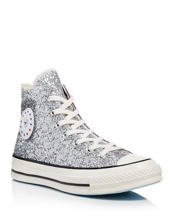 9b6016c5374c7e Converse - x Chiara Ferragni Women s Chuck Taylor Tillands Glitter High Top  Sneakers