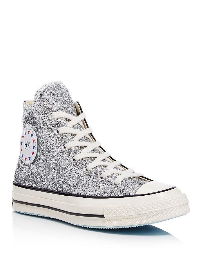 Converse - x Chiara Ferragni Women s Chuck Taylor Glitter High Top Sneakers 88f82793e