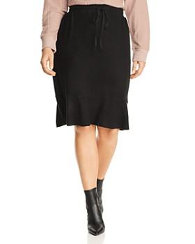 B Collection by Bobeau Curvy - Renata Drawstring Flutter Skirt
