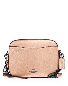 COACH - Metallic Leather Camera Crossbody Bag