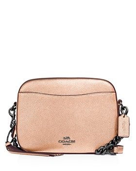 COACH - Metallic Leather Camera Crossbody Bag