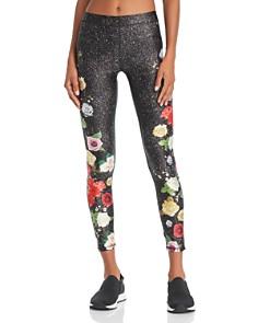 Terez - Floral Glitter Print Leggings