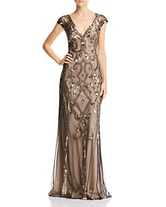 Aidan Mattox - Deco Embellished Gown
