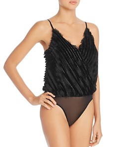 ASTR the Label - To the Beat Fringed Camisole Bodysuit