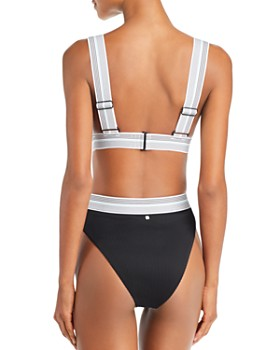 Dolce Vita - Fast Lane Ribbed Bikini Top & Fast Lane Ribbed High Waist Bikini Bottom