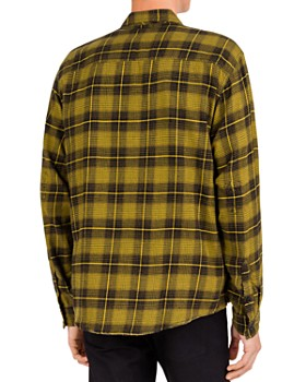 The Kooples - Checked Distressed Regular Fit Zip-Front Shirt