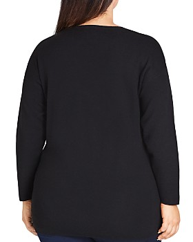 City Chic Plus - Faux-Pearl Embellished Sweater