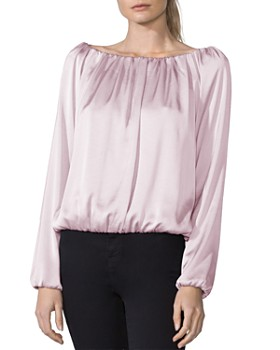 Bailey 44 - Monaco Satin Off-the-Shoulder Top