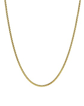 David Yurman - Small Box Chain Necklace in 18K Yellow Gold, 22""