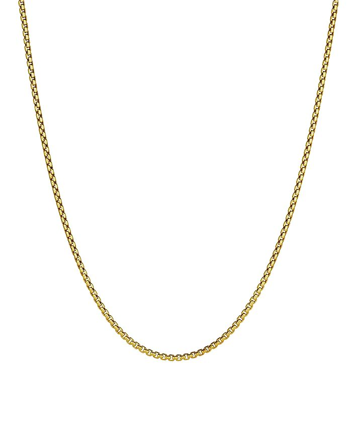 David Yurman SMALL BOX CHAIN NECKLACE IN 18K YELLOW GOLD, 22