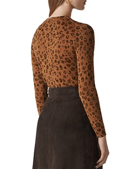 Whistles - Cheetah-Print Sparkle Sweater