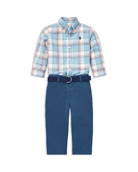 Ralph Lauren - Boys  Plaid Shirt   Belted Chinos Set - Baby ... 7c6fdf4c6