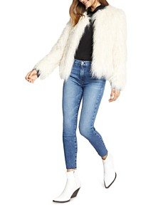 Sanctuary - Cropped Faux-Fur Jacket