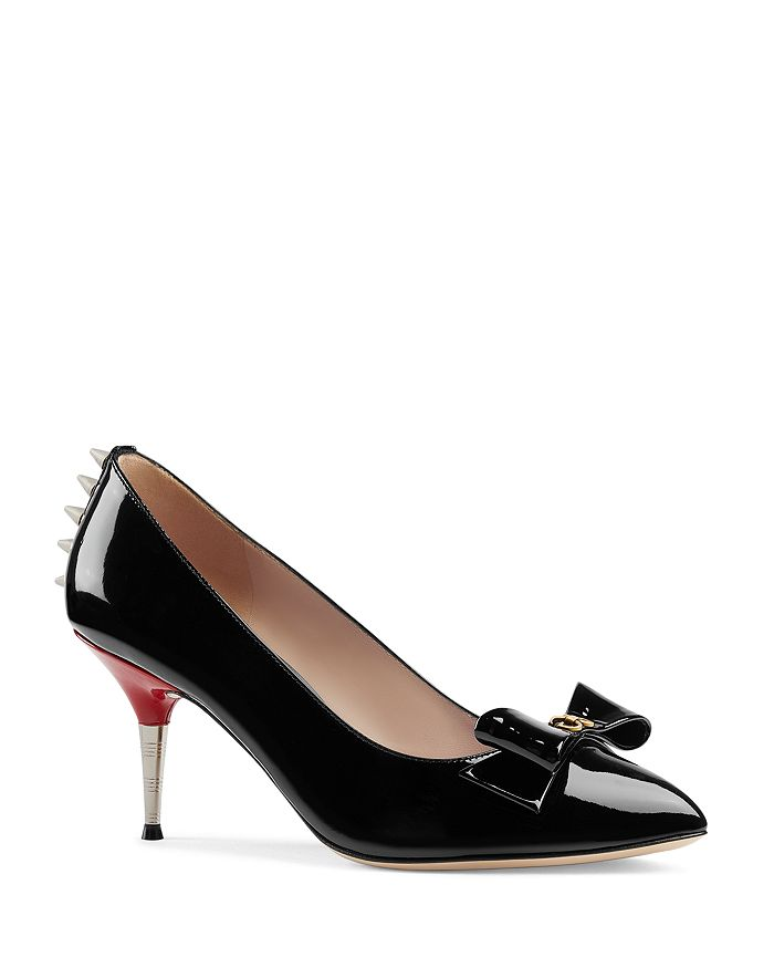 30e2719138a5 Gucci - Women s Sadie Patent Leather Pumps with Bow
