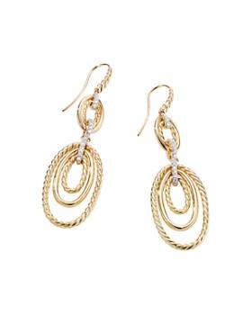 David Yurman - Continuance Drop Earrings with Diamonds in 18K Yellow Gold
