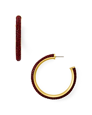 kate spade new york Pave Encrusted Hoop Earrings