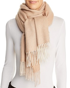 C by Bloomingdale's - Color-Block Cashmere Scarf - 100% Exclusive