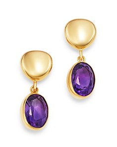 Bloomingdale's - Gemstone Oval Drop Earrings in 14K Yellow Gold - 100% Exclusive