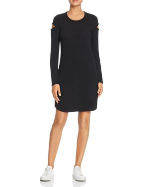 Robert Michaels Long-Sleeve Cutout Dress in Black