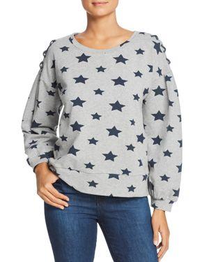 BILLY T Star-Print Sweatshirt in Heather Gray