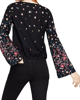 BCBGeneration - Floral Print Bell-Sleeve Top