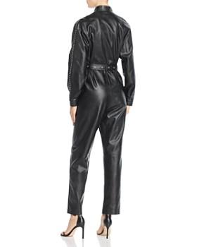 Divine Heritage - Faux Leather Flight Jumpsuit