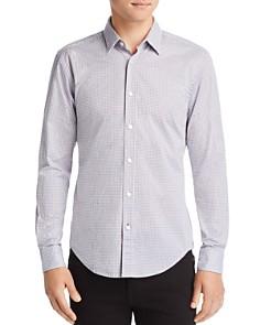 BOSS - Ronni Micro-Geometric-Print Slim Fit Shirt