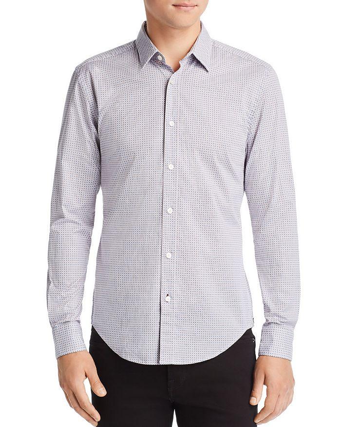 BOSS Hugo Boss - Ronni Micro-Geometric-Print Slim Fit Shirt