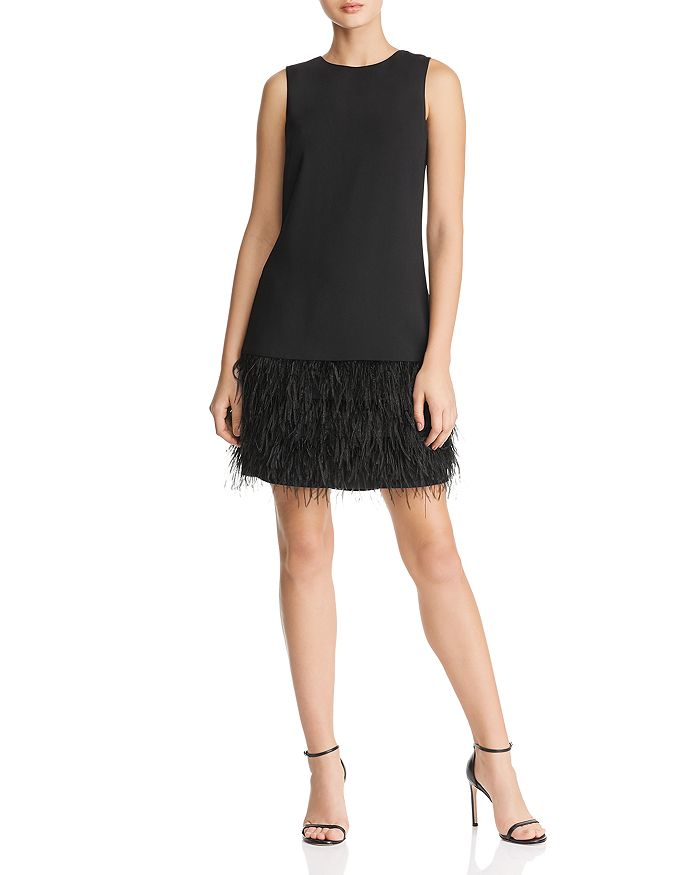 Sam Edelman - Feather-Trimmed Shift Dress