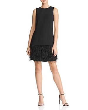 Sam Edelman Feather Trimmed Shift Dress-Women