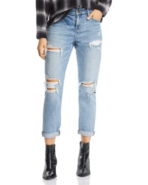 PISTOLA Mason Distressed High-Rise Girlfriend Jeans In Like That